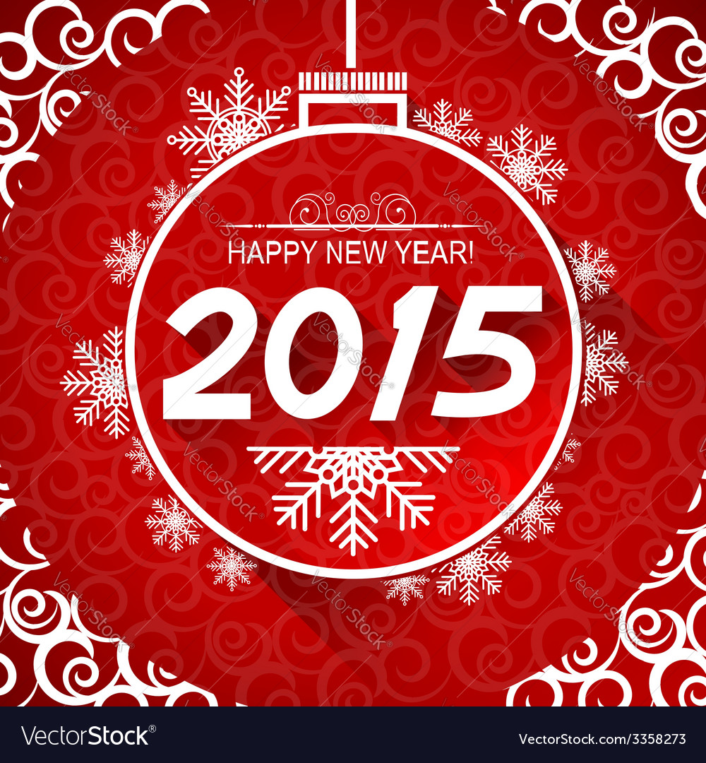 New year card with snoflakes of marry christ vector | Price: 1 Credit (USD $1)