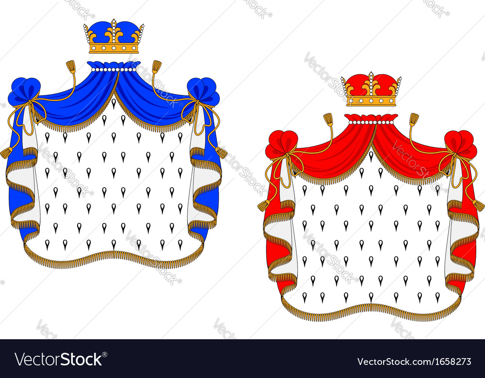 Red and blue royal mantles vector | Price: 1 Credit (USD $1)