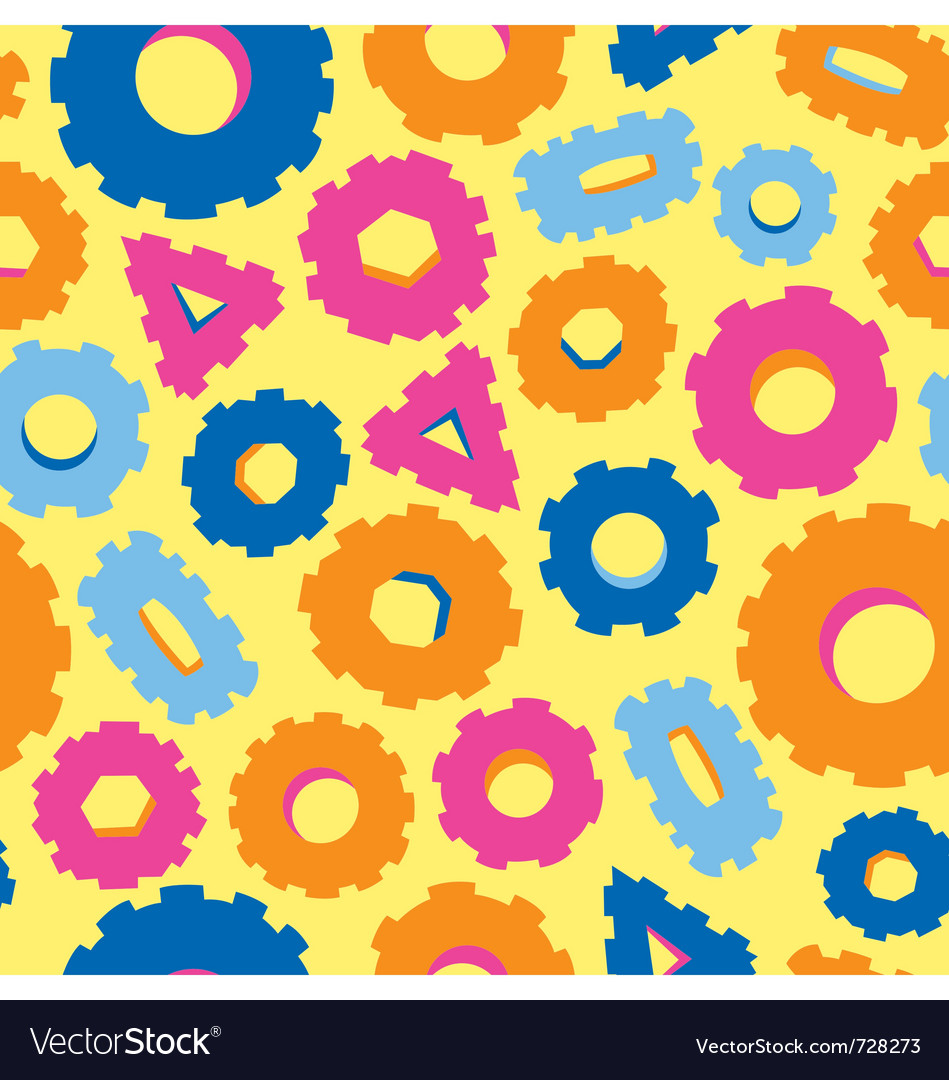 Seamless pattern of variety of bolts vector   Price: 1 Credit (USD $1)