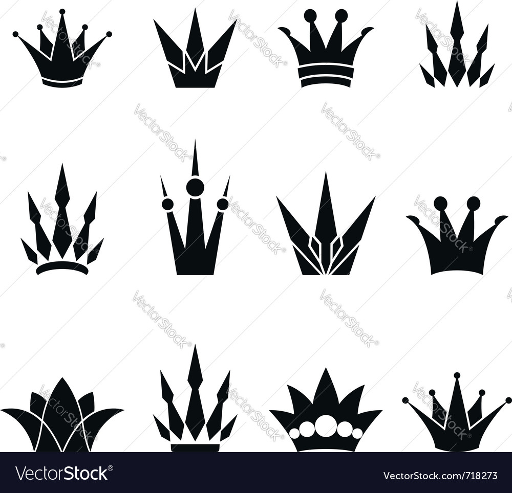 Set of crowns vector | Price: 1 Credit (USD $1)