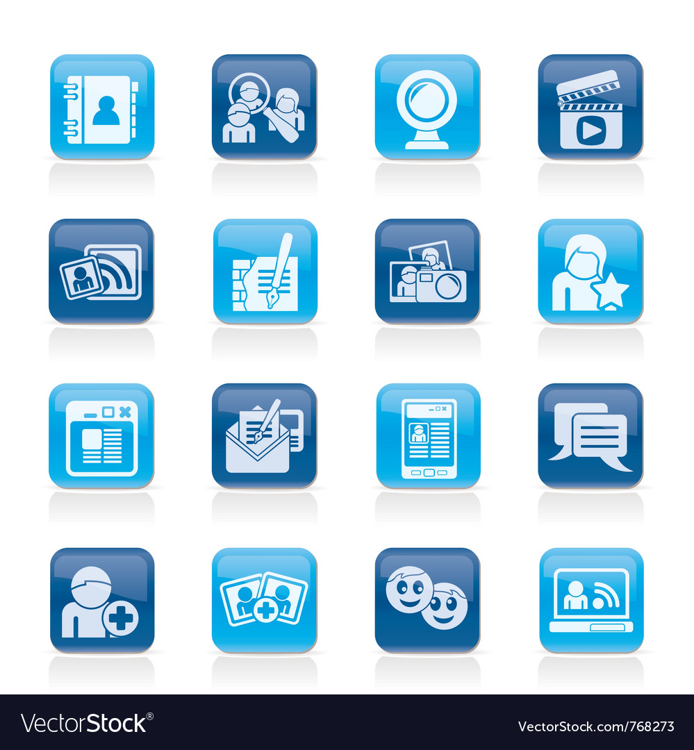 Social networking and communication icons vector | Price: 1 Credit (USD $1)