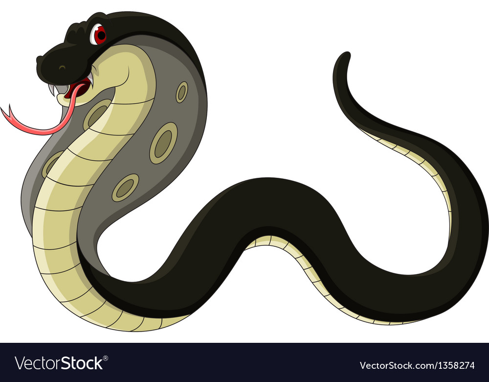 Black cobra cartoon vector | Price: 1 Credit (USD $1)