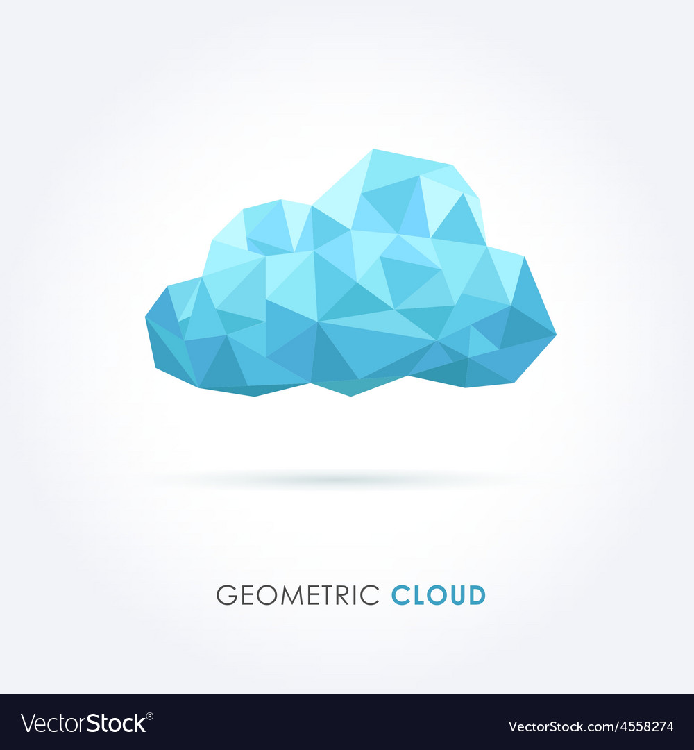 Cloud geometrical style vector | Price: 1 Credit (USD $1)
