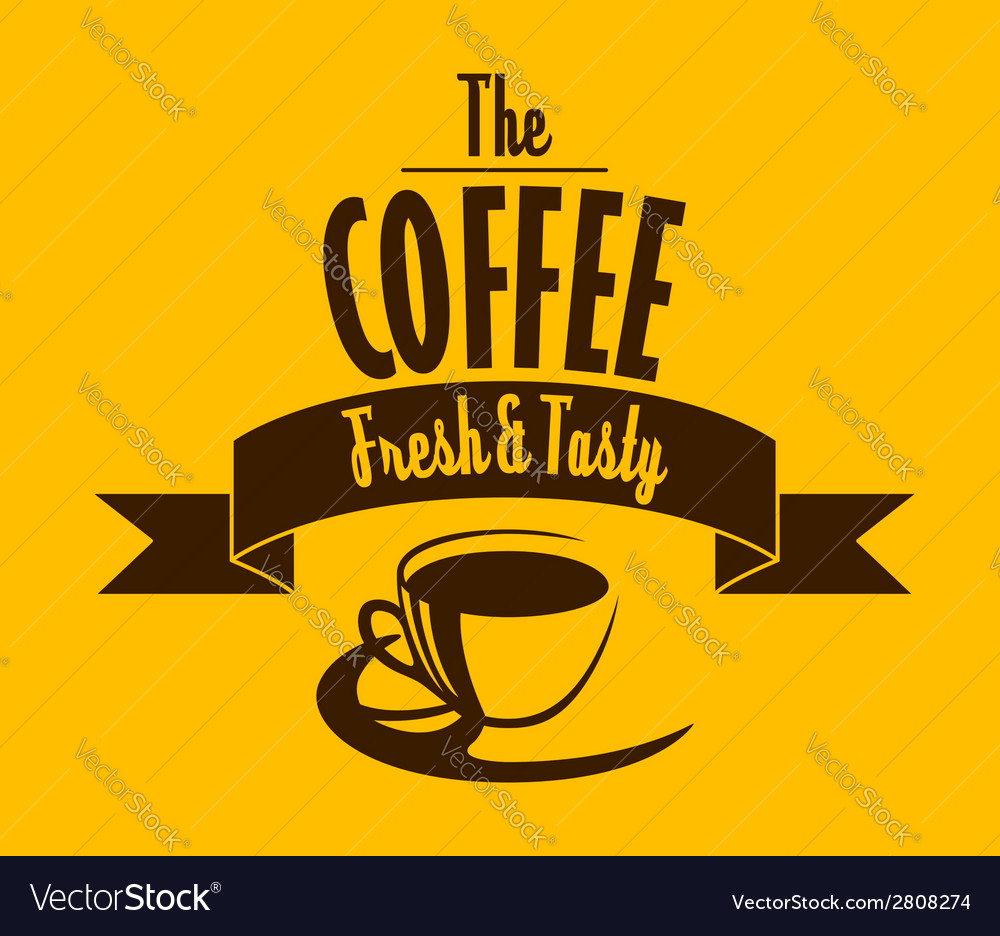 Fresh and tasty coffee banner vector | Price: 1 Credit (USD $1)