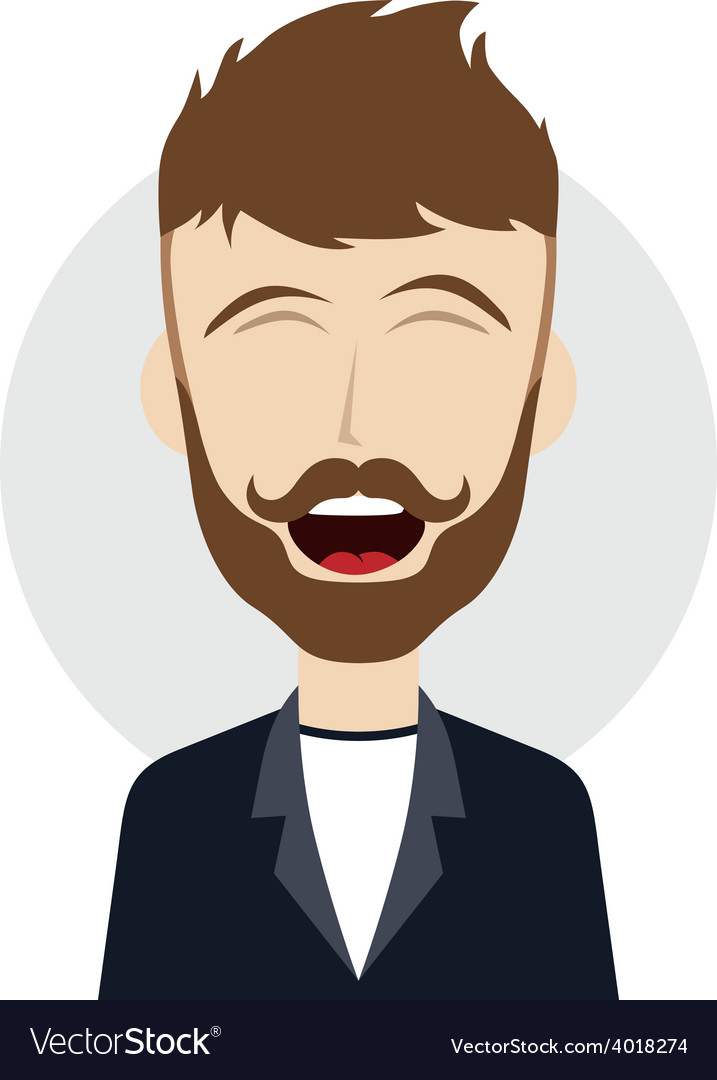 Funny laughing guy vector | Price: 1 Credit (USD $1)