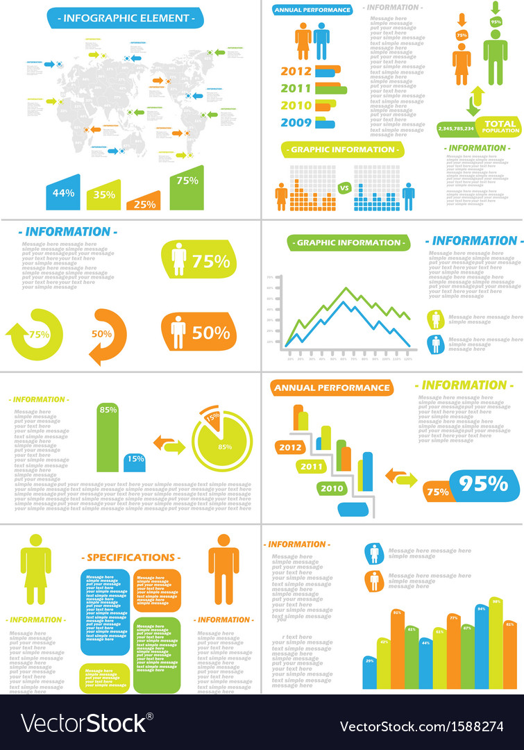 Infographic demographics new style toy vector | Price: 1 Credit (USD $1)