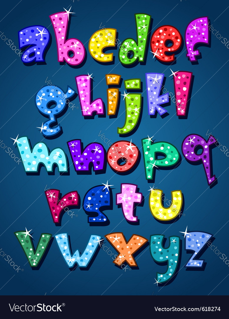 Lower case sparkling alphabet vector | Price: 1 Credit (USD $1)