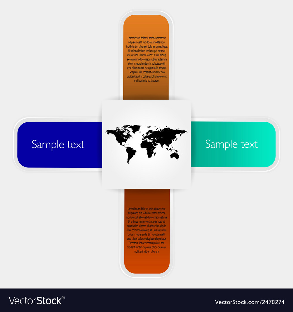 Stickers elements and world map vector | Price: 1 Credit (USD $1)
