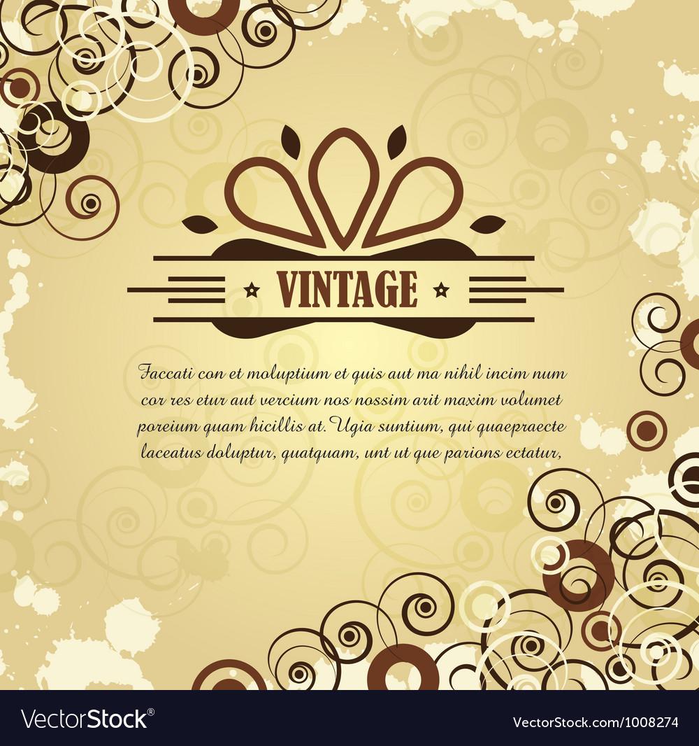 Swirly background vector | Price: 1 Credit (USD $1)