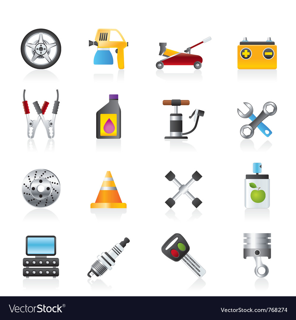 Transportation and car repair icons vector | Price: 3 Credit (USD $3)