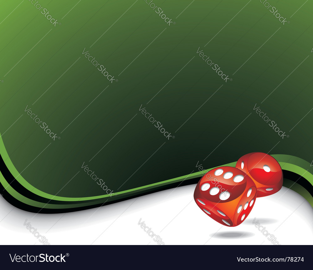 Two red dices vector | Price: 1 Credit (USD $1)
