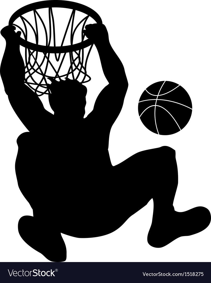 Basketball player dunking ball vector | Price: 1 Credit (USD $1)