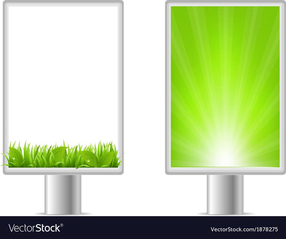 Blank billboards vector | Price: 1 Credit (USD $1)