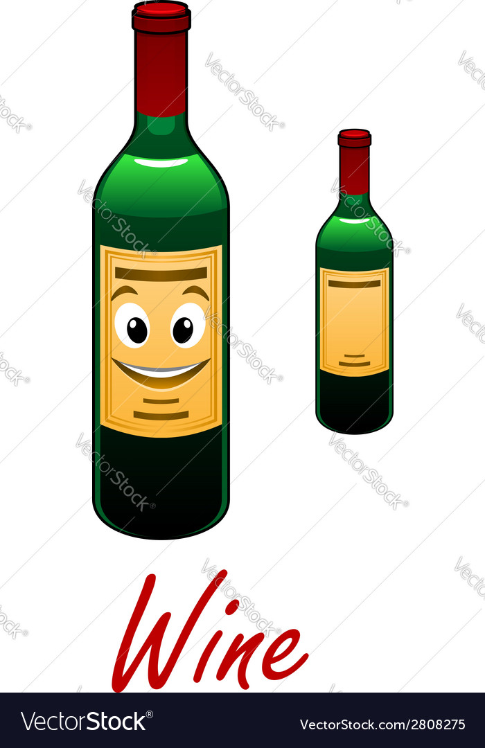 Cartoon wine bottle vector | Price: 1 Credit (USD $1)