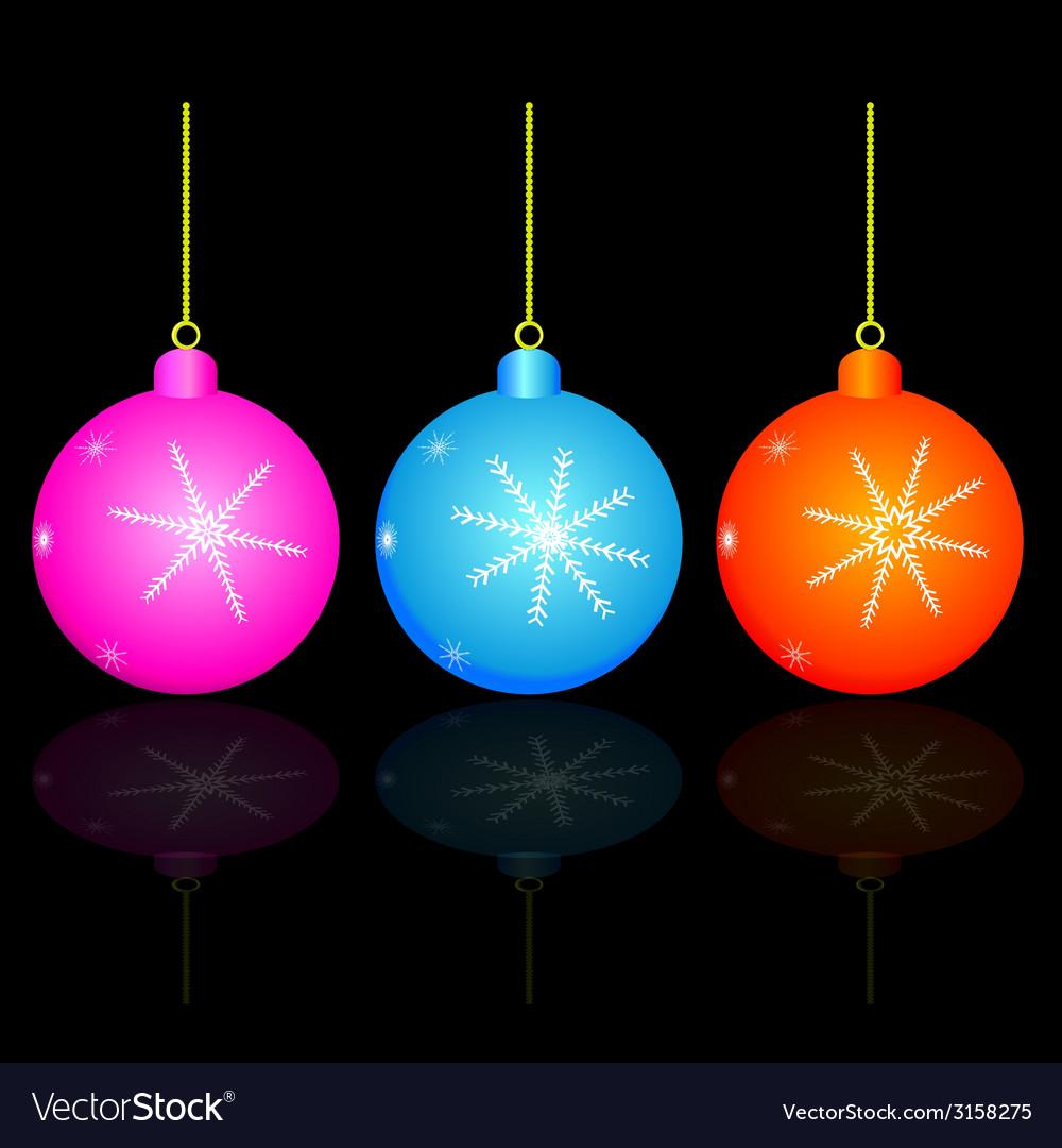 Christmas decorativ ball vector | Price: 1 Credit (USD $1)