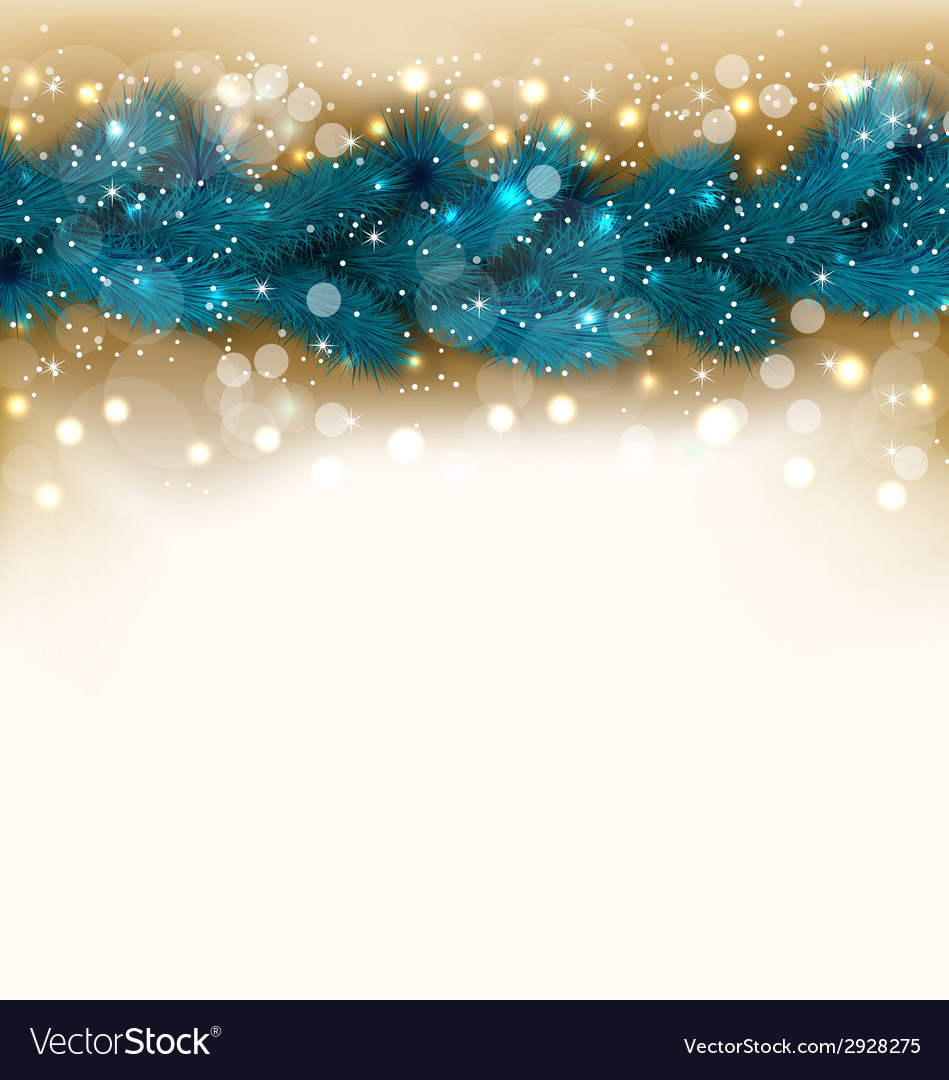 Christmas shimmering background with fir twigs vector | Price: 1 Credit (USD $1)