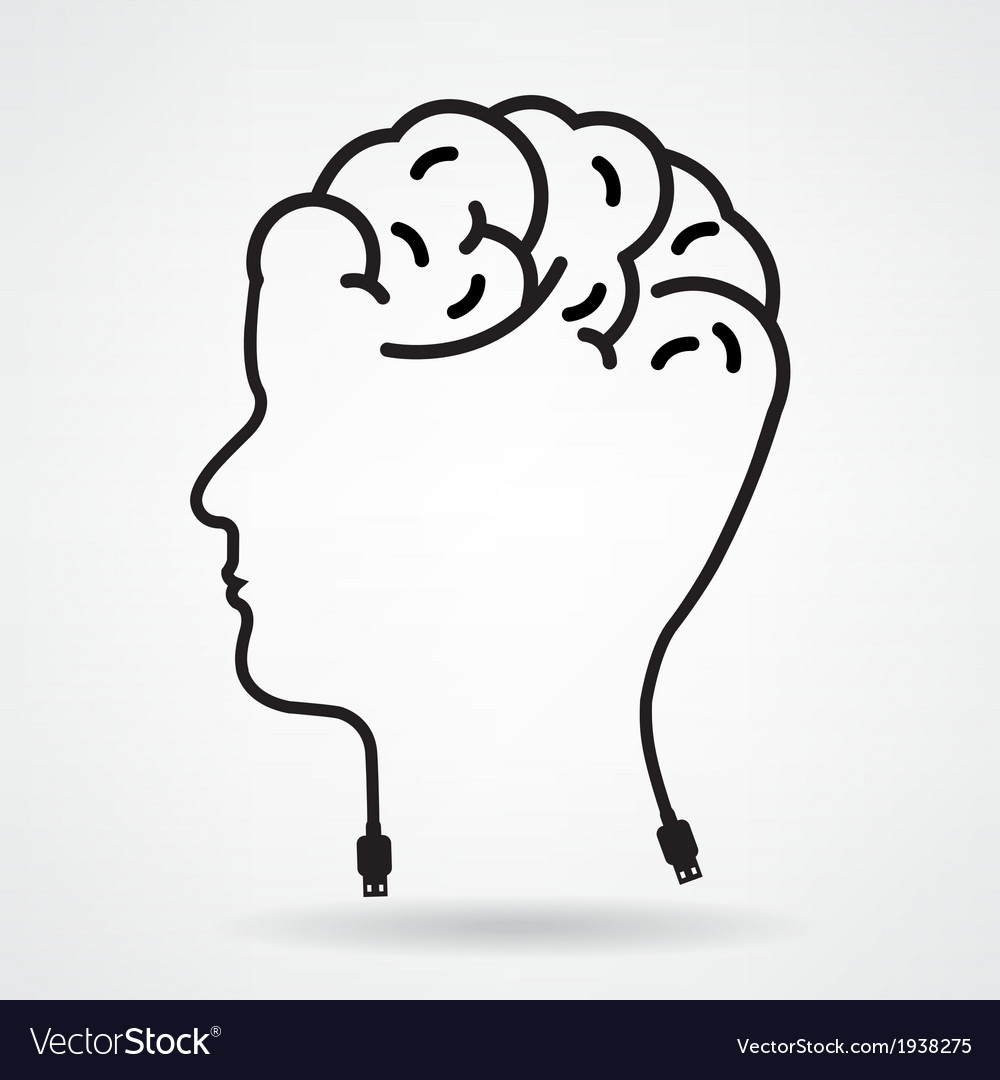 Creative head brain idea concept vector | Price: 1 Credit (USD $1)