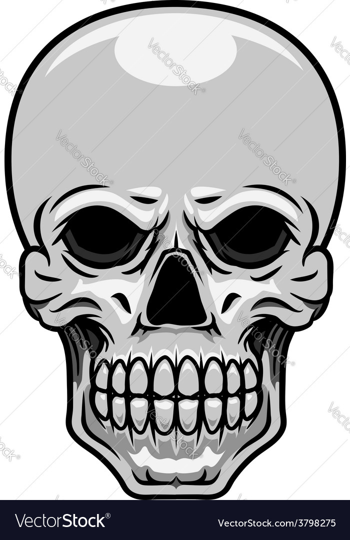 Danger human or monster skull vector | Price: 1 Credit (USD $1)