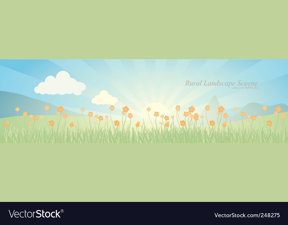 Landscape scene vector | Price: 3 Credit (USD $3)