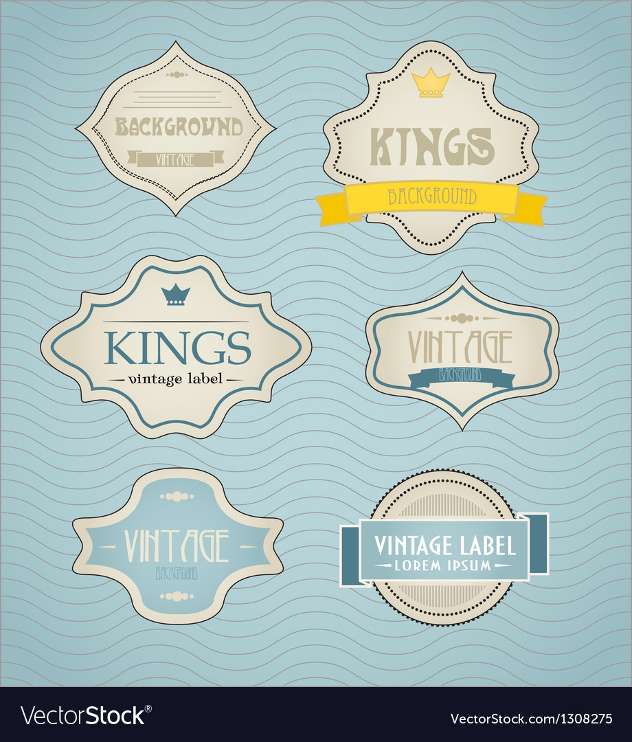 Vintage labels discount labels set vector | Price: 1 Credit (USD $1)
