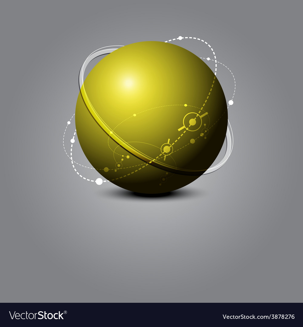 Abstract sphere science concept vector | Price: 1 Credit (USD $1)