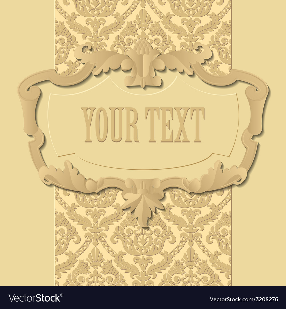 Baroque frame vector | Price: 1 Credit (USD $1)