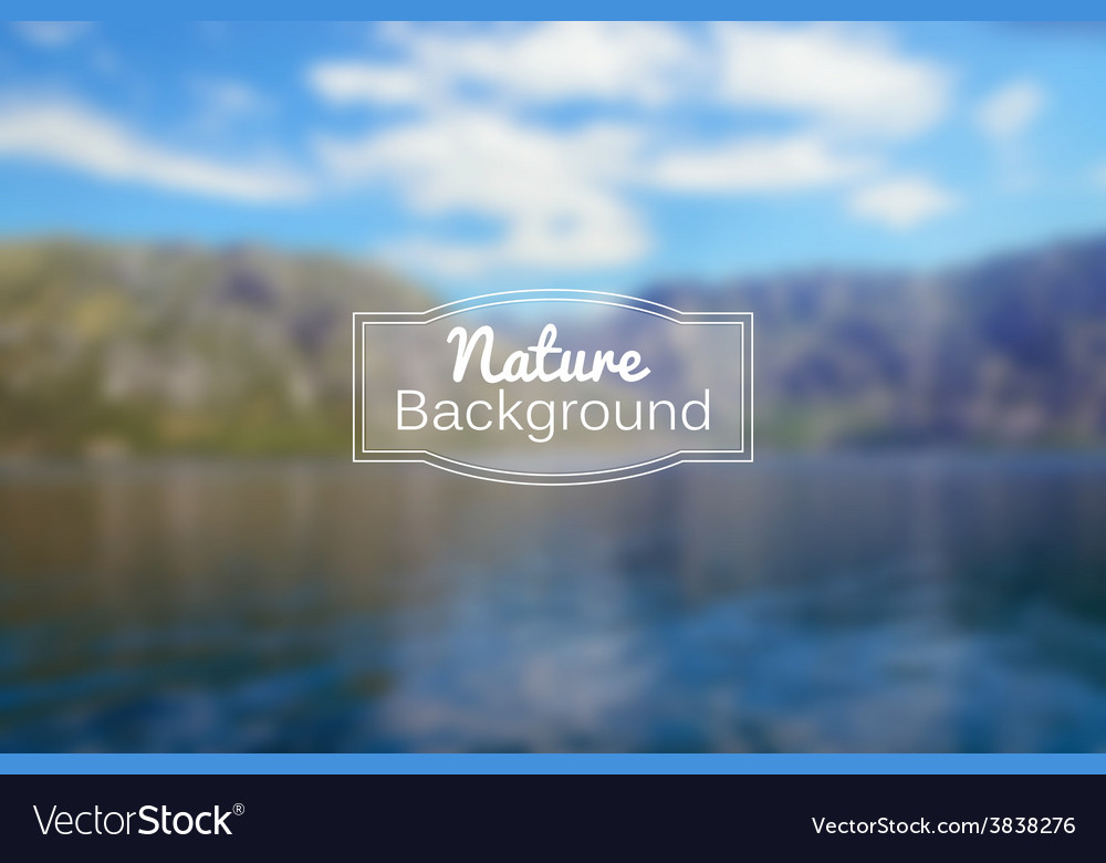 Blurred nature background sea and vector | Price: 1 Credit (USD $1)