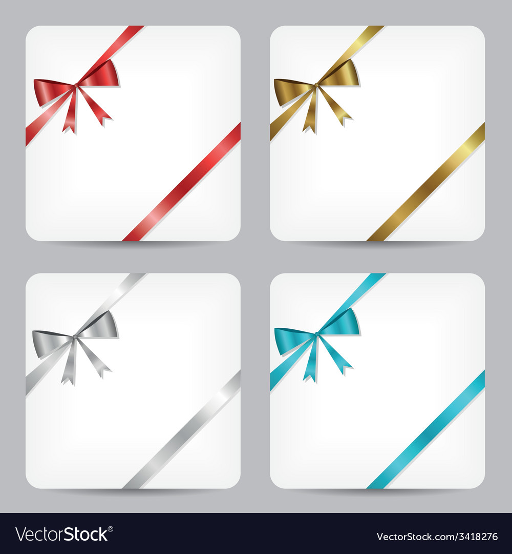 Card with ribbon collection vector | Price: 1 Credit (USD $1)
