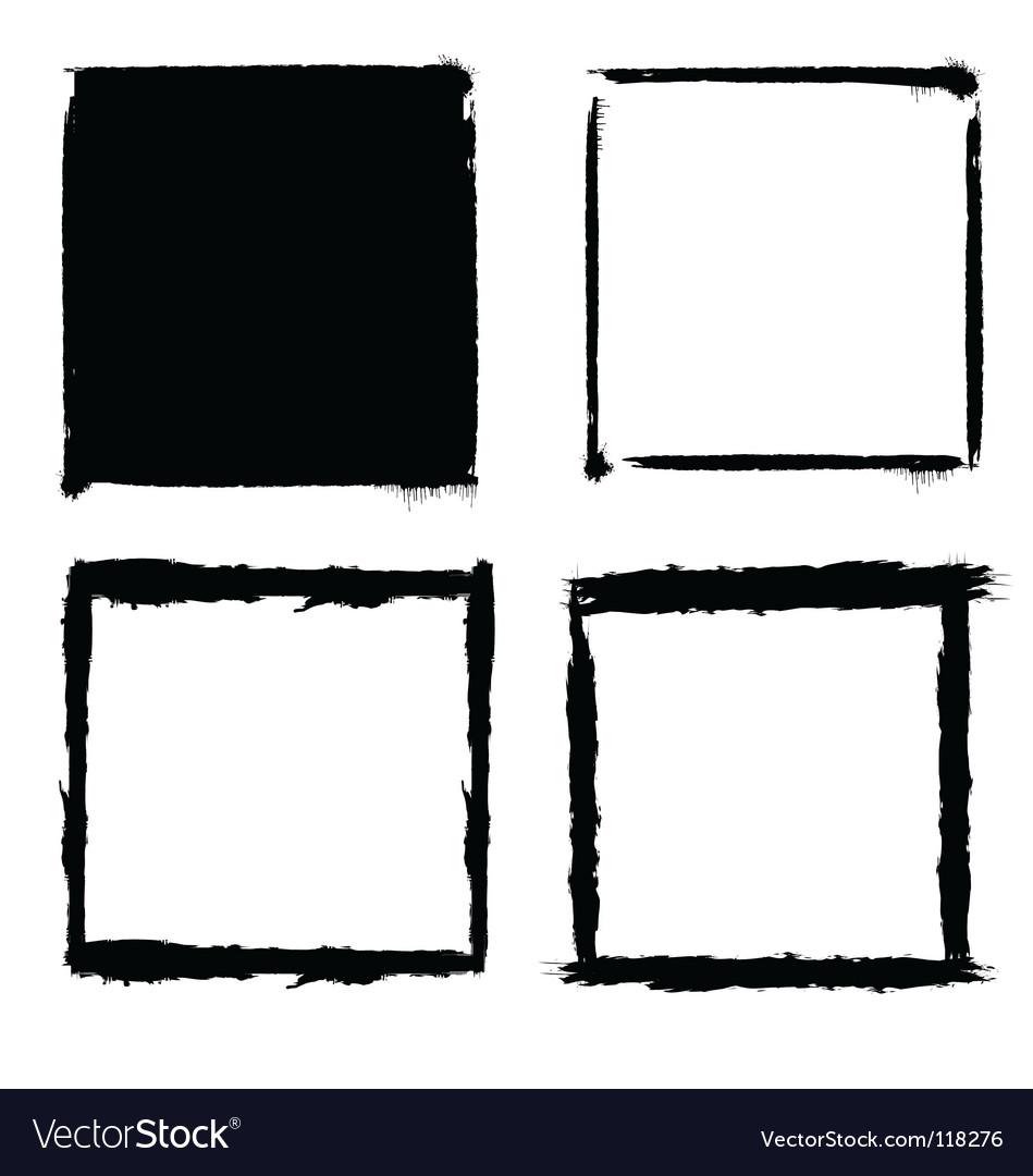 Grunge frames vector | Price:  Credit (USD $)
