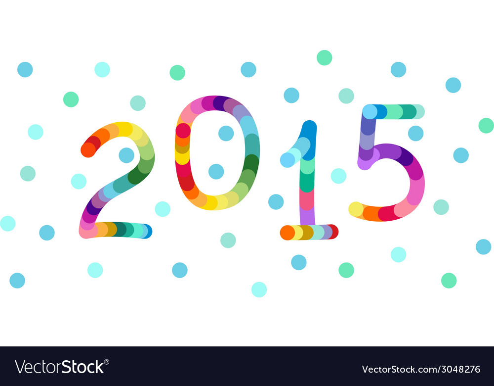 New year 2015 background banner vector | Price: 1 Credit (USD $1)