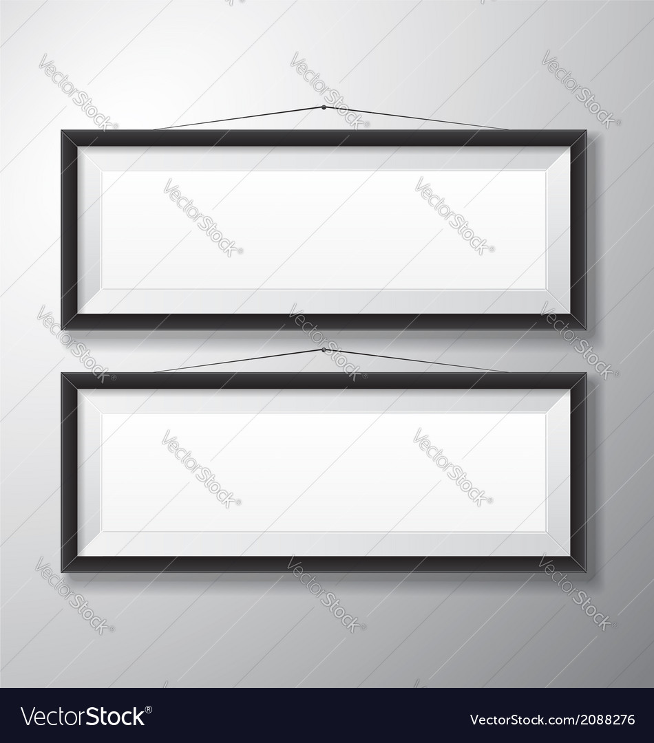 Picture frames black horizontal vector | Price: 1 Credit (USD $1)