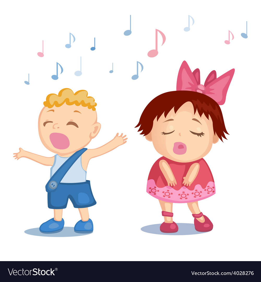 Singing babies vector   Price: 1 Credit (USD $1)