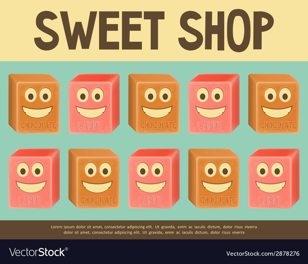 Sweet shop blue vector | Price: 1 Credit (USD $1)