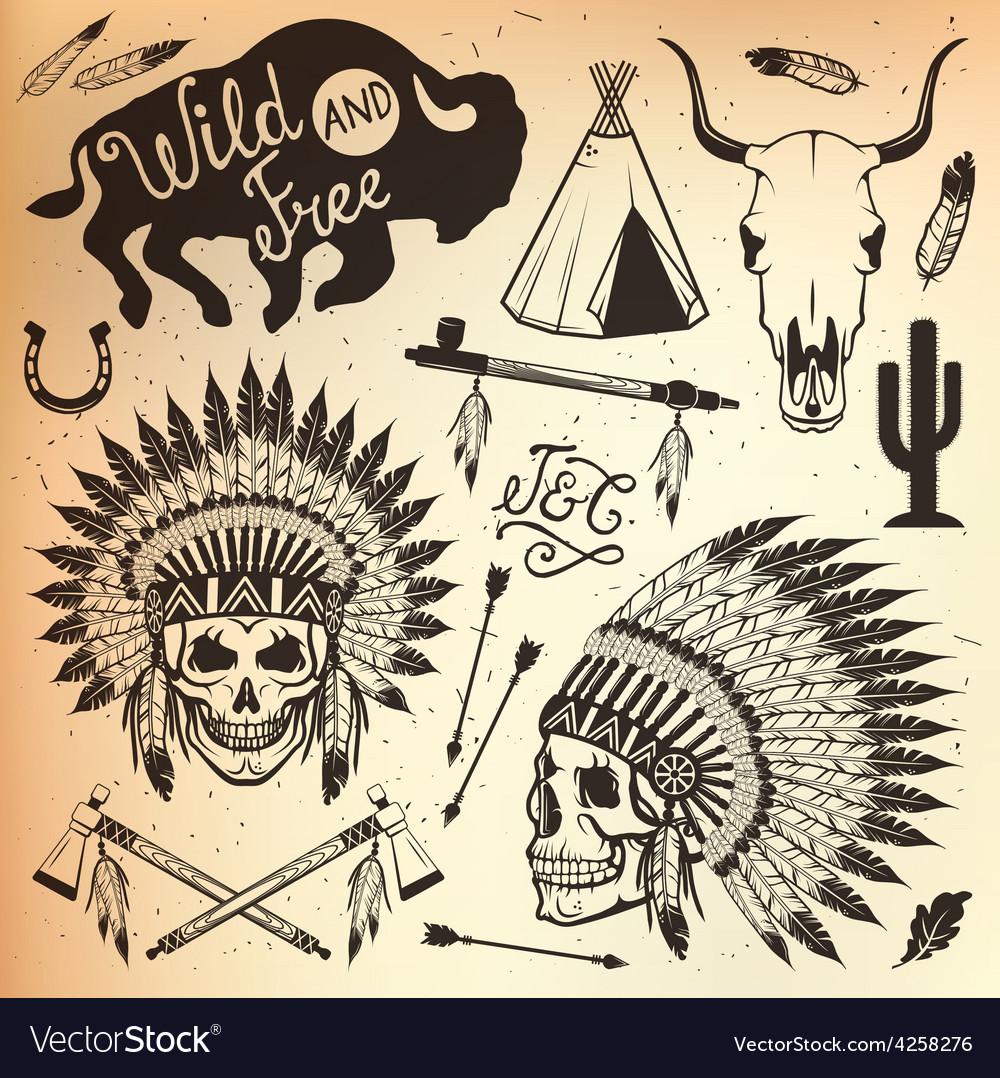 Wild west sets vector | Price: 1 Credit (USD $1)