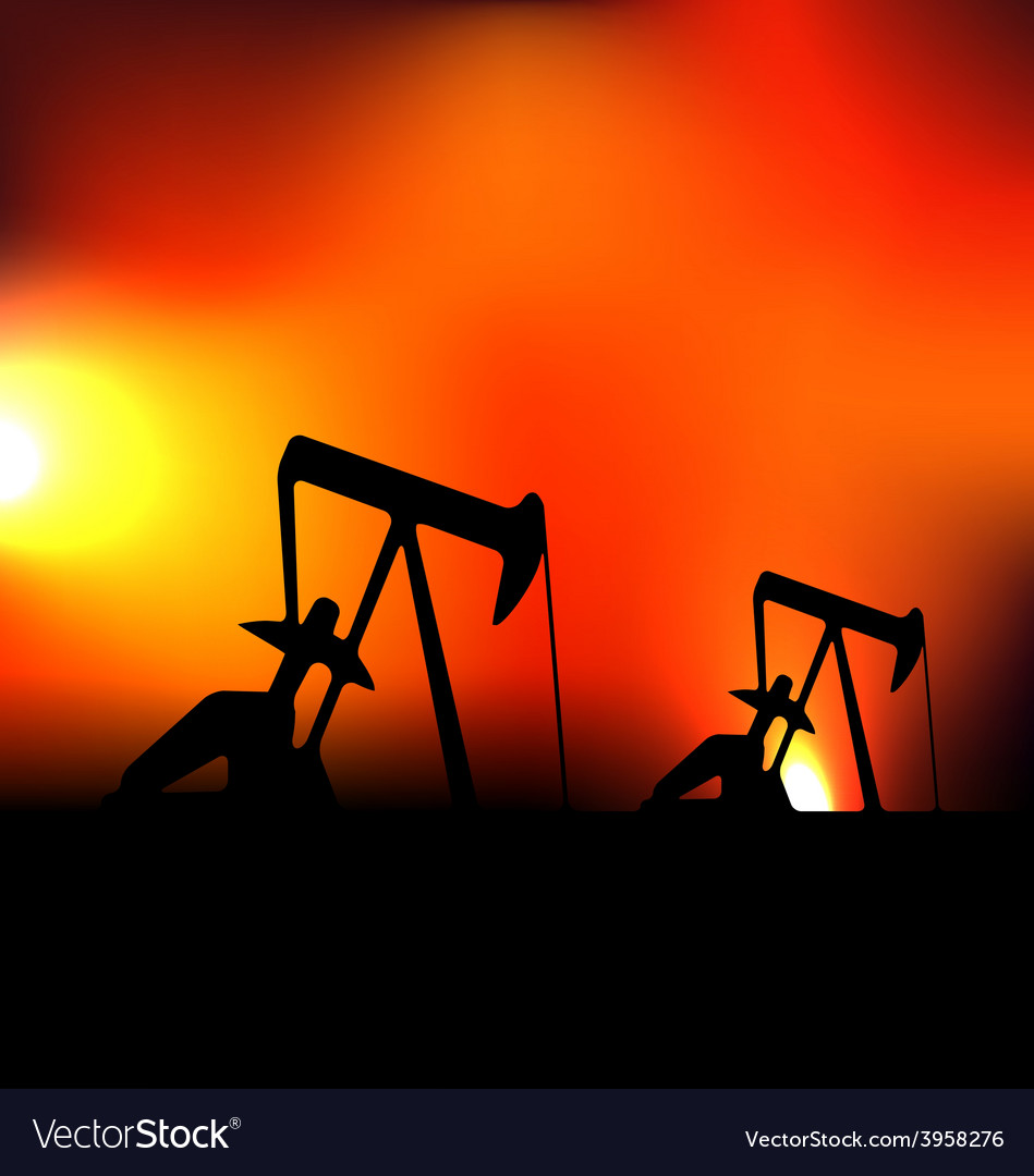 With working oil pumps vector | Price: 1 Credit (USD $1)