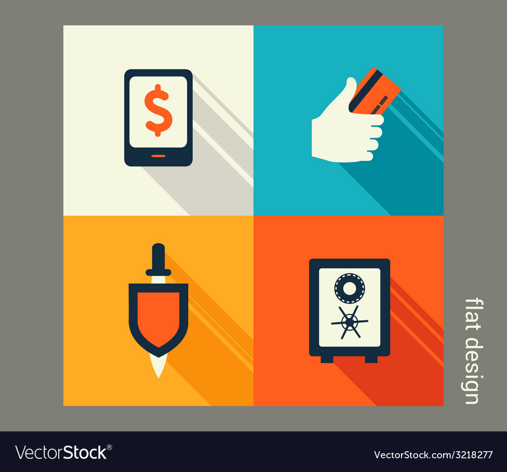 Business icon set finance and banking e-commerce vector   Price: 1 Credit (USD $1)