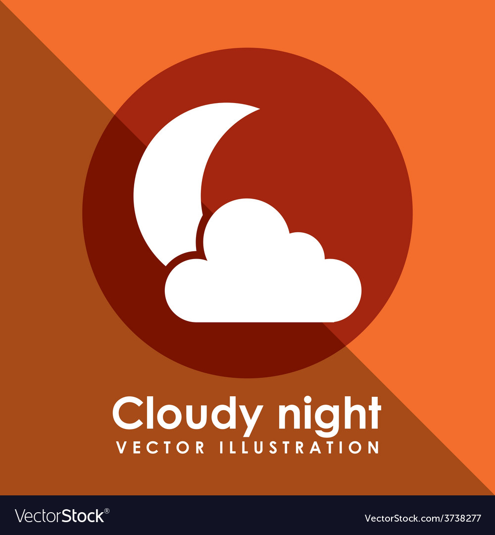 Cloudy night design vector | Price: 1 Credit (USD $1)