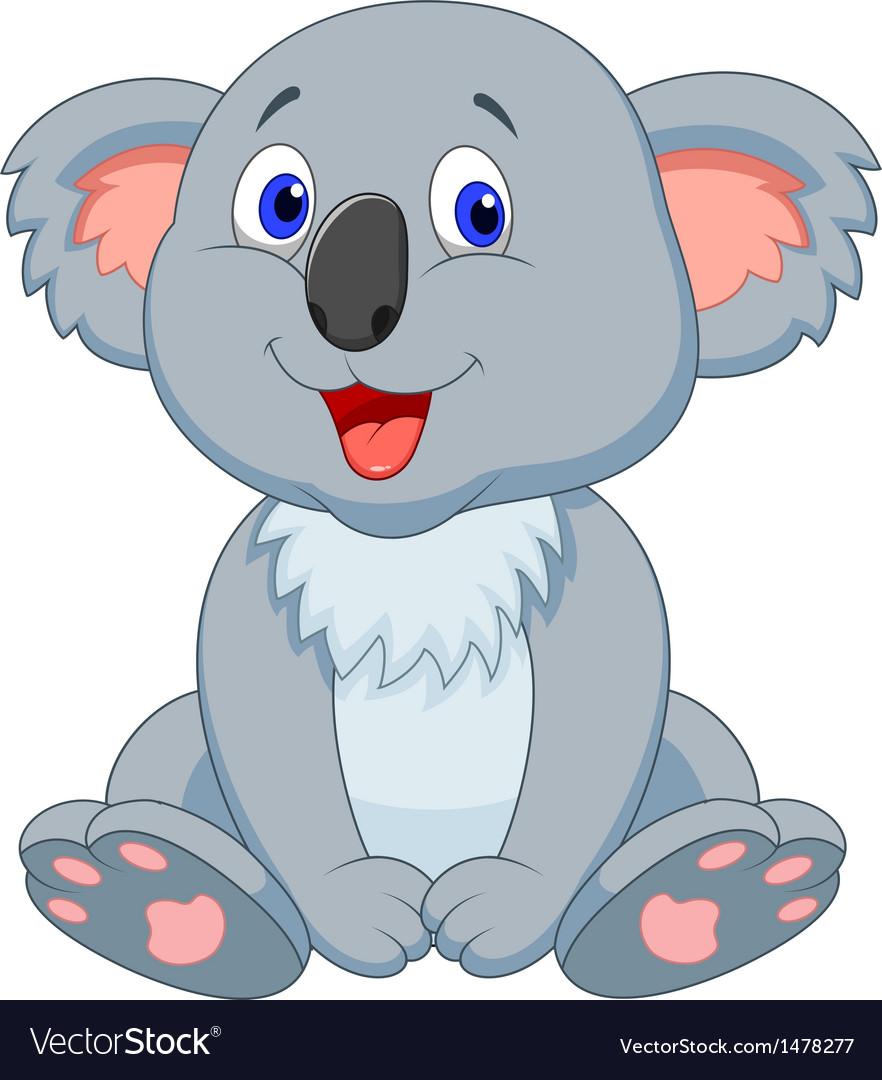 Cute koala cartoon vector | Price: 1 Credit (USD $1)