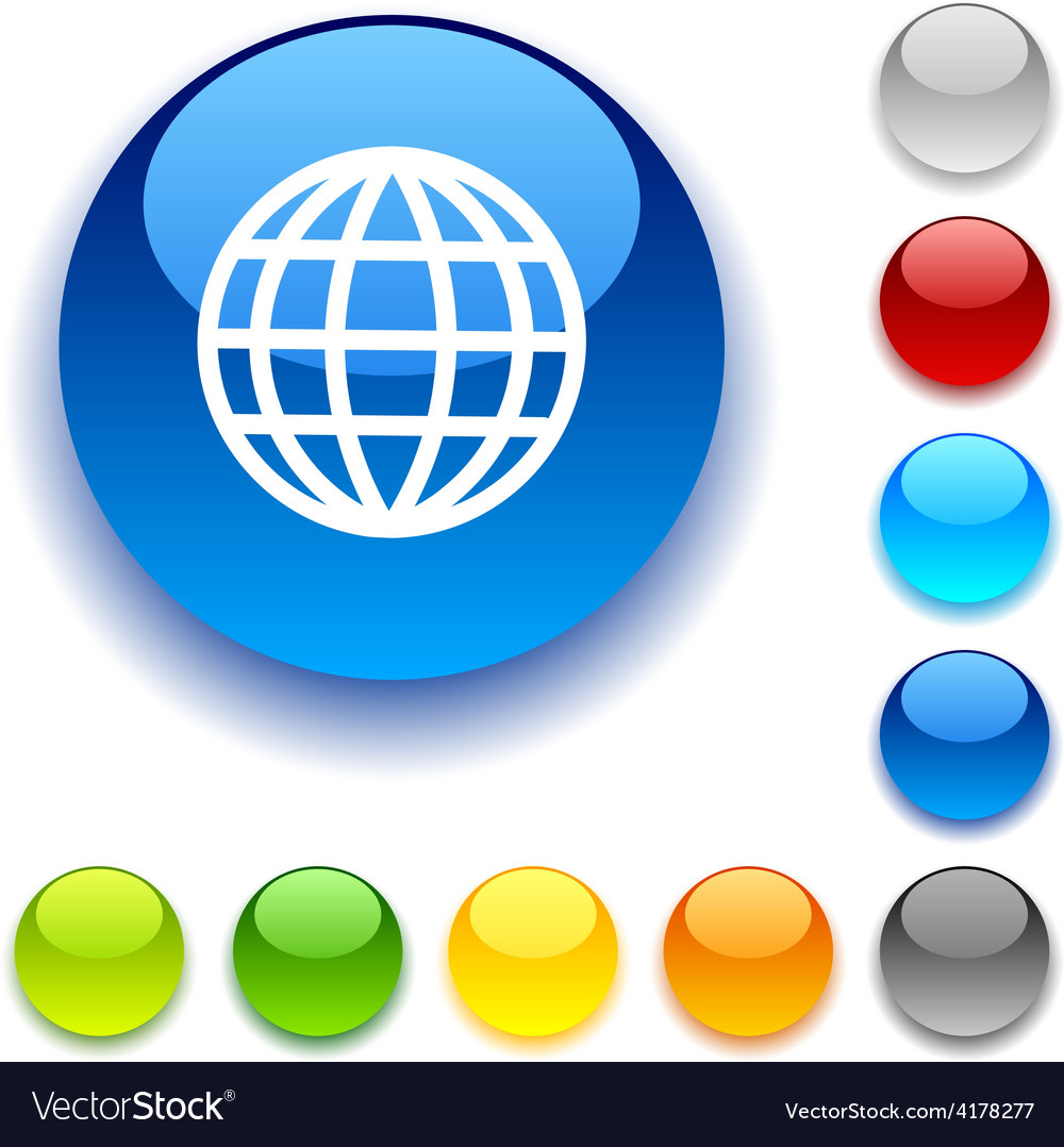 Earth button vector | Price: 1 Credit (USD $1)