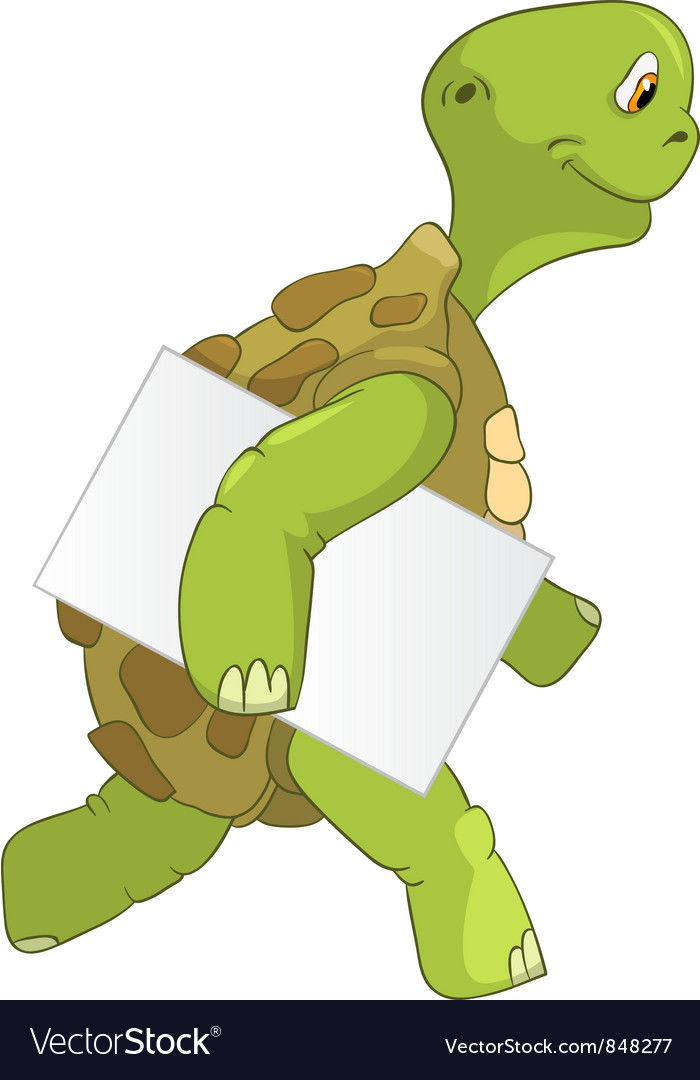 Funny turtle courier vector | Price: 3 Credit (USD $3)