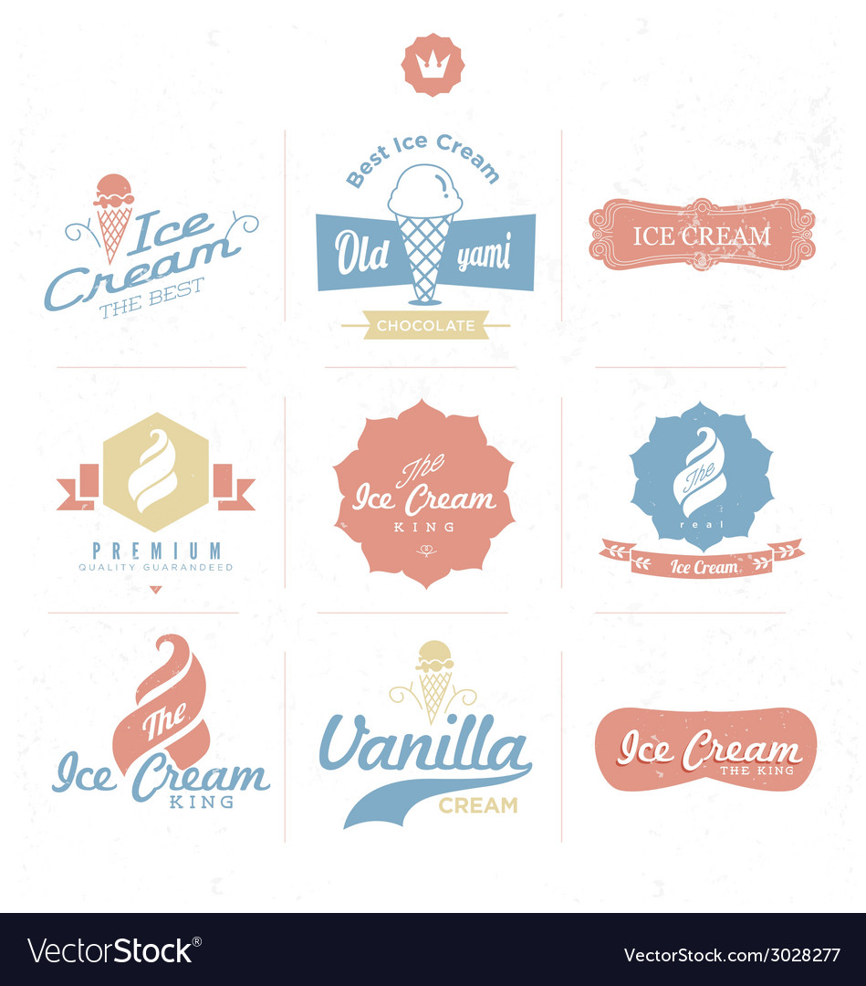 Ice cream shop logo vector | Price: 1 Credit (USD $1)