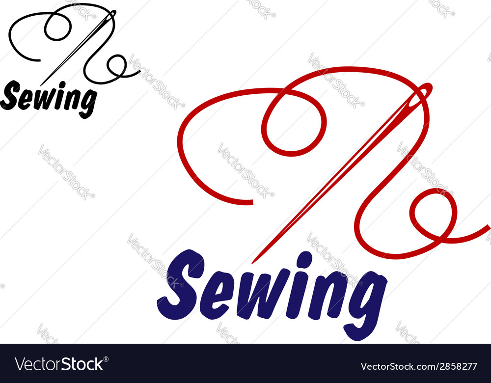 Needlework or sewing symbol vector | Price: 1 Credit (USD $1)