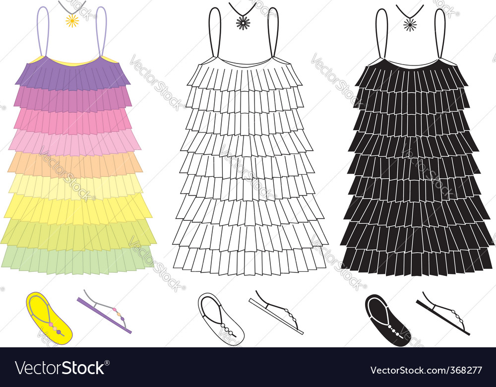 Party dress vector | Price: 1 Credit (USD $1)