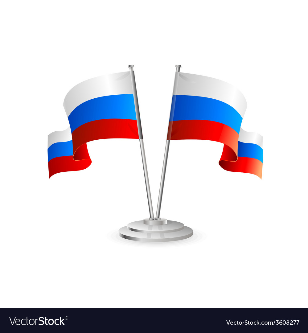 Russian table flag vector | Price: 1 Credit (USD $1)