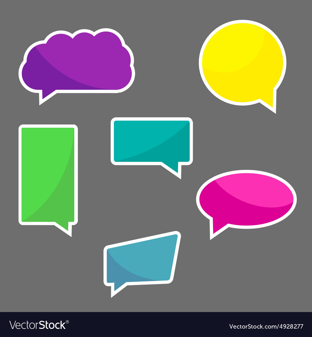 Set of chat icons speach bubbles vector