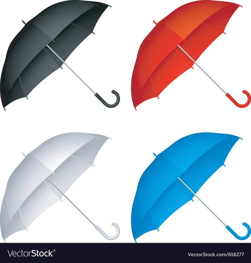 Umbrellas vector | Price: 1 Credit (USD $1)