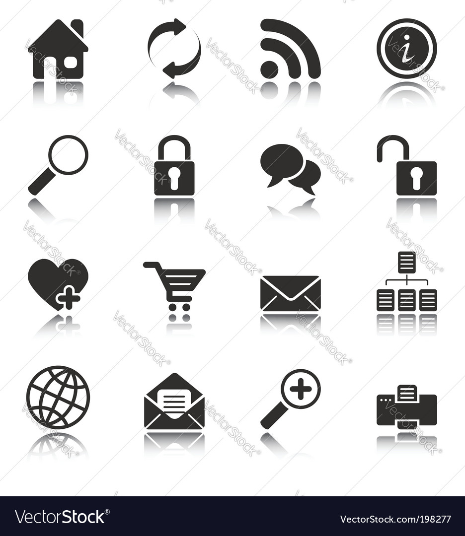 Web and internet icons vector | Price: 1 Credit (USD $1)