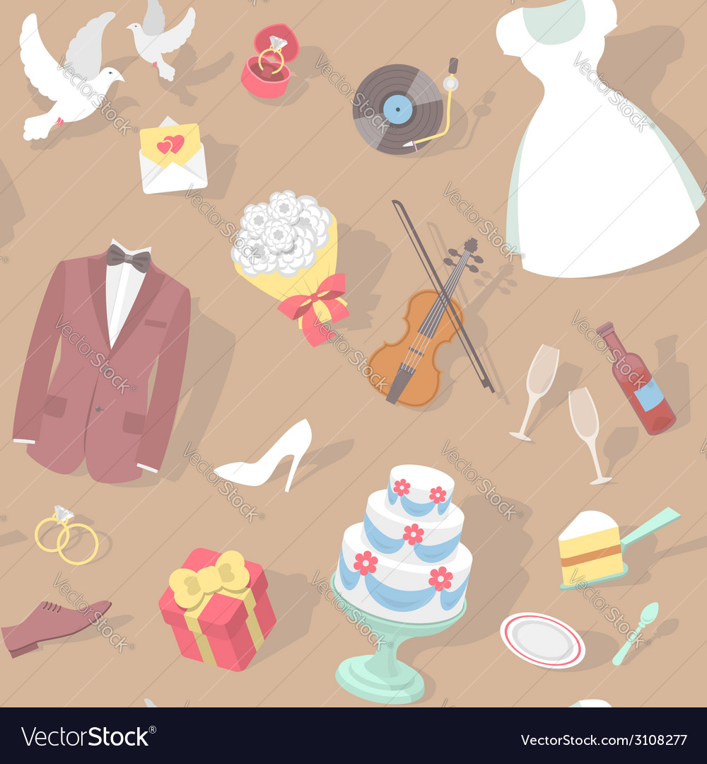 Wedding pattern vector | Price: 1 Credit (USD $1)