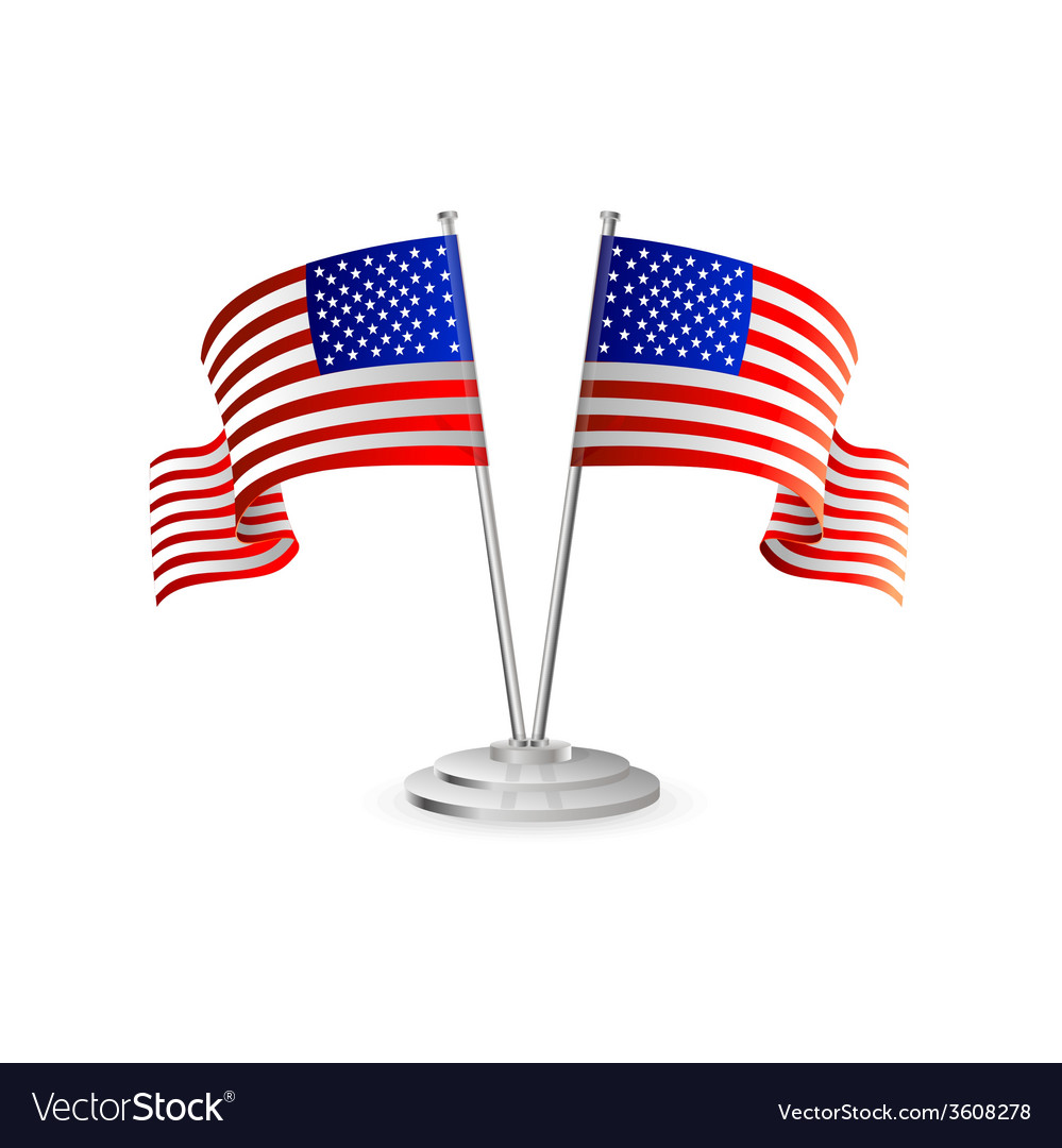 American table flag vector | Price: 1 Credit (USD $1)