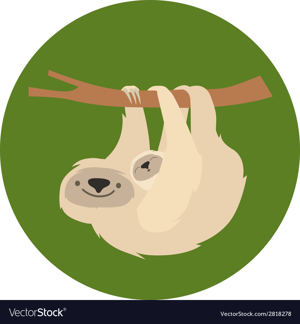 Cute white sloth family vector | Price: 1 Credit (USD $1)